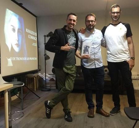 Con Sergio y Victor de Arcadia Coworking